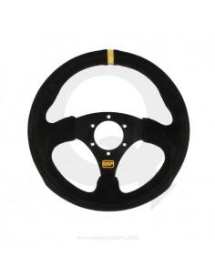Steering wheel suede flat...