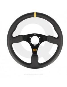 Steering wheel leather flat...